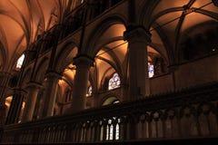Canterbury Katedralny wewnętrzny Anglia zdjęcie stock