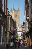 Canterbury-Kathedralen-Ansicht Stockbild