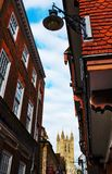 Canterbury-Kathedralenturm und -gebäude Stockbild