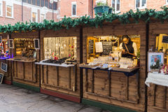 Canterbury, Kent, Großbritannien, Weihnachtsmarkt Lizenzfreie Stockfotos