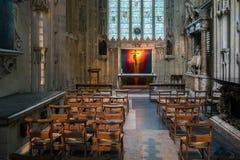 CANTERBURY, KENT/UK - 12 DE NOVEMBRO: Vista de um altar em Canterbu Imagem de Stock Royalty Free