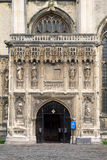 CANTERBURY, KENT/UK - 12. NOVEMBER: Eingang nach Canterbury Cathe Lizenzfreies Stockfoto