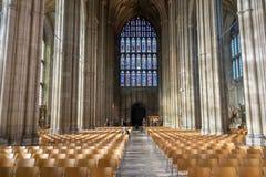 CANTERBURY KENT/UK - NOVEMBER 12: Inre sikt av Canterbury Arkivbilder