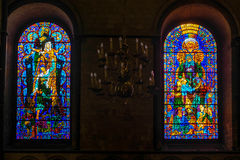 CANTERBURY, KENT/UK - NOVEMBER 12 : Stained Glass Window in Cant Stock Images