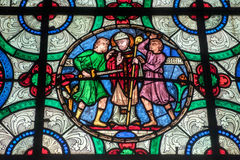 CANTERBURY, KENT/UK - NOVEMBER 12 : Stained Glass Window in Cant Royalty Free Stock Photos