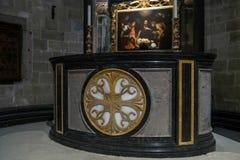 CANTERBURY, KENT/UK - 12 NOVEMBRE: Altare nella cattedra di Canterbury Immagine Stock