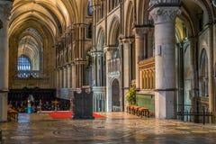 CANTERBURY, KENT/UK - 12 NOVEMBRE: Vista interna di Canterbury Fotografia Stock Libera da Diritti