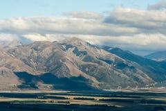 Canterbury plains near Lewis Pass Stock Photo