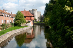 Canterbury river reflections Royalty Free Stock Photos