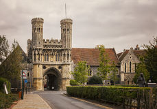 Canterbury storslagen ingång Royaltyfri Foto