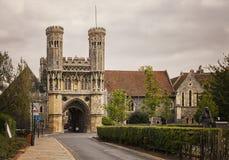 Canterbury uroczysty wejście Zdjęcie Royalty Free