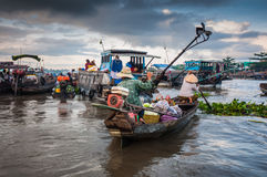 Cantho floating market Stock Photos