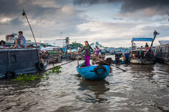 Cantho floating market Stock Photography