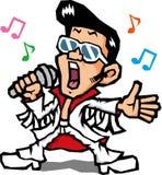 Canti il maschio Immagini Stock