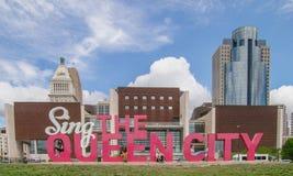 Canti la città della regina, Cincinnati, OH fotografia stock libera da diritti
