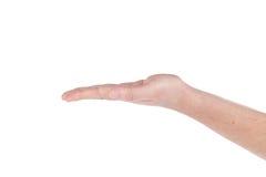 Canti la lingua Palma della mano tesa su fotografie stock libere da diritti