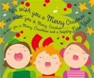 Canti natalizii di natale illustrazione di stock