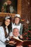 Canti natalizii di natale del Victorian Immagine Stock