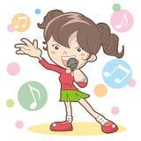 Canti una canzone - karaoke illustrazione di stock