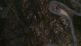 Cantidad aérea con paisajes épicos almacen de metraje de vídeo