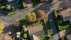 Cantidad aérea del abejón sobre la pequeña ciudad Hornsea, Yorkshire del este, Reino Unido - otoño 2018 de la playa almacen de video