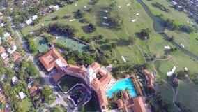 Cantidad aérea del hotel Miami de Biltmore almacen de video