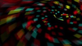 Cantidad abstracta del fondo del wormhole colorido con tiempo vídeo del remolino del lazo espacio exterior, universo almacen de metraje de vídeo