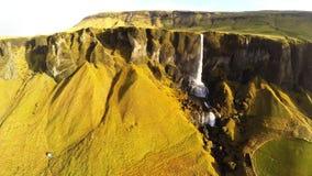 Cantidad asombrosa de la cascada en Islandia - Foss un Sidu almacen de video
