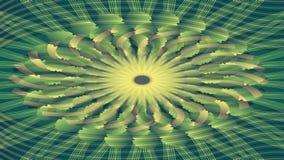 Cantidad beige y verde del túnel, forma floral simétrica abstracta stock de ilustración