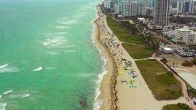 Cantidad común aérea de Miami Beach la Florida metrajes