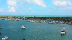 Cantidad común aérea de Miami Beach la Florida almacen de video