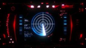 Cantidad de alta resolución del interfaz futurista stock de ilustración
