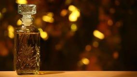 Cantidad de cristal del hd del humo del bokeh del oro del perfume metrajes