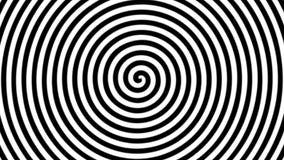 Cantidad de la animación de la ilusión óptica blanco y negro torcida del círculo que se mueve alrededor en espiral ilustración del vector