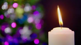 Cantidad de la falta de definición ardiente de la vela Día de la Navidad