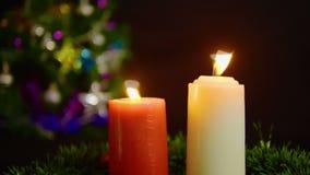 Cantidad de la vela que quema con la Navidad del ornamento Día de la Navidad