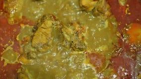 Cantidad de las existencias de alimentos de la preparación del curry del pollo metrajes