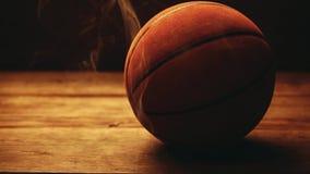 Cantidad de madera del hd del humo del escritorio de la bola del baloncesto