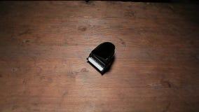 Cantidad de madera del hd de la tabla del piano del negro de la mano del sombrero almacen de video