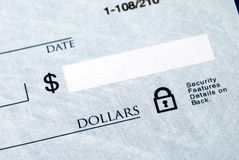 Cantidad del dólar en la verificación fotos de archivo