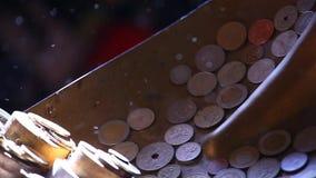 Cantidad del hd de la moneda del dinero almacen de metraje de vídeo