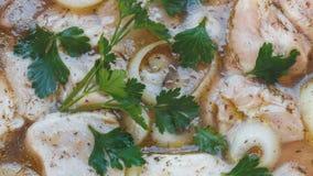 Cantidad del primer de la carne adobada para el kebab metrajes