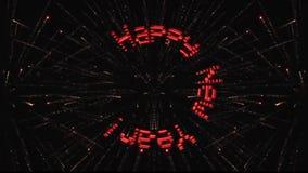 Cantidad del ` s del Año Nuevo La inscripción aparece y gira contra la perspectiva de los fuegos artificiales libre illustration