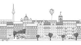 Cantidad dibujada mano colocada de Berlín libre illustration