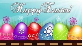 Cantidad feliz de los huevos de Pascua almacen de video
