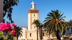 cantidad 4k del casquillo hermoso Spartel, Tánger, Marruecos del faro en África metrajes
