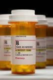 Cantidad total de botellas de la prescripción Imagen de archivo libre de regalías