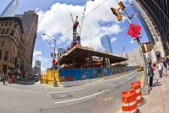 Cantiere al ground zero Fotografie Stock Libere da Diritti