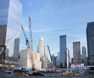 Cantiere al ground zero Immagine Stock