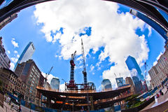 Cantiere al ground zero Fotografia Stock